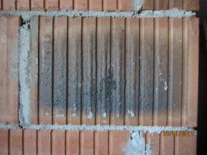 Verbau angeflammter Mauerziegel